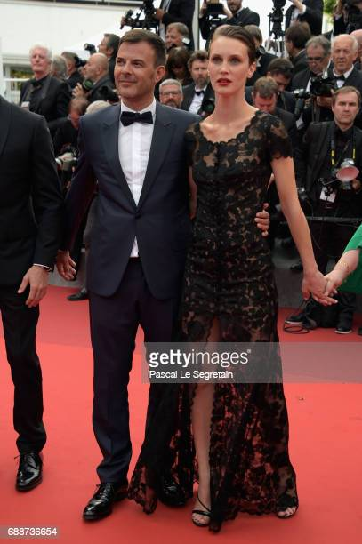Francois Ozon and Marine Vacth attend 'Amant Double ' Red Carpet Arrivals during the 70th annual Cannes Film Festival at Palais des Festivals on May...