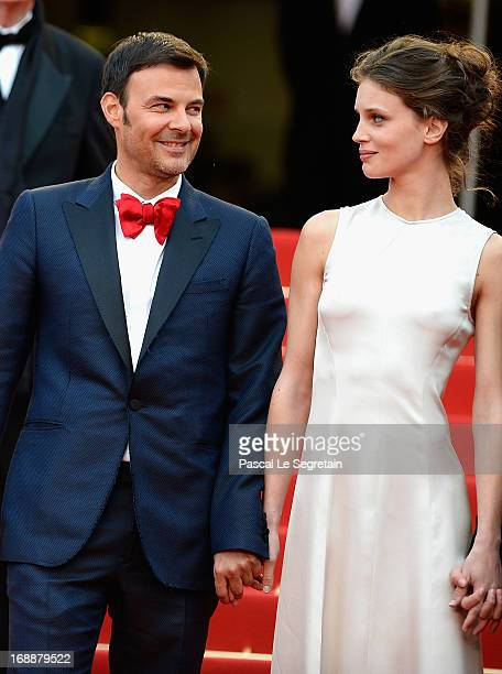 Francois Ozon and Marine Vacth attend the 'Jeune Jolie' premiere during The 66th Annual Cannes Film Festival at the Palais des Festivals on May 16...