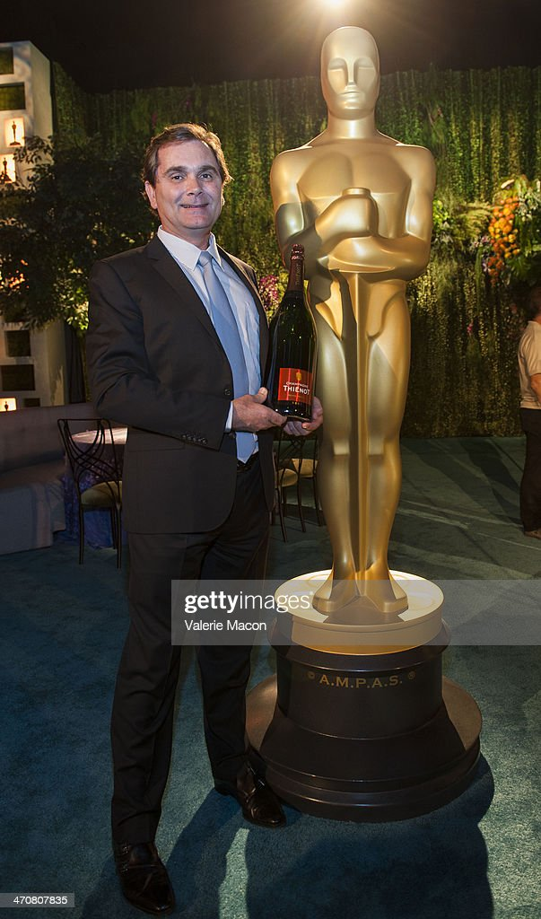 Francois Peltereau-Villeneuve, president and CEO of Champagne Thienot attends the 86th Annual Academy Awards - Governors Ball Press Preview at The Ray Dolby Ballroom at Hollywood & Highland Center on February 20, 2014 in Hollywood, California.