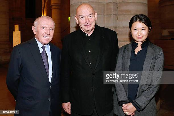 Francois Pinault and Architect Jean Nouvel with his companion Lida attend 'A Triple Tour' Francois Pinault Collection Exhibition opening at the...