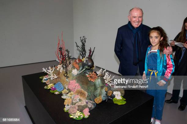 Francois Pinault and Valentina Pinault attend Damien Hirst's exibition at Pallazzo Grassi during the 57th Venice Biennale on May 10 2017 in Venice...