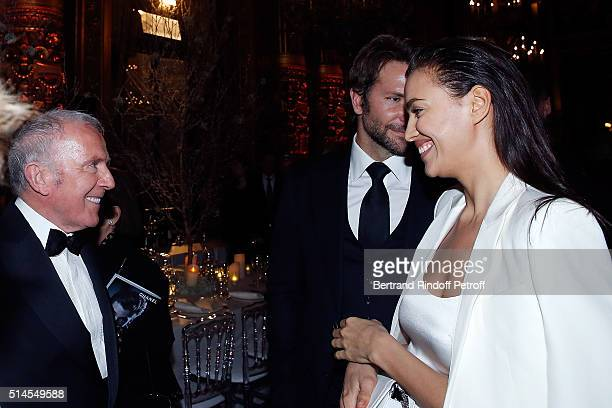 Francois Pinault Bradley Cooper and Irina Shayk attend the Arop Charity Gala At the Opera Garnier under the auspices of Madam Maryvonne Pinault on...