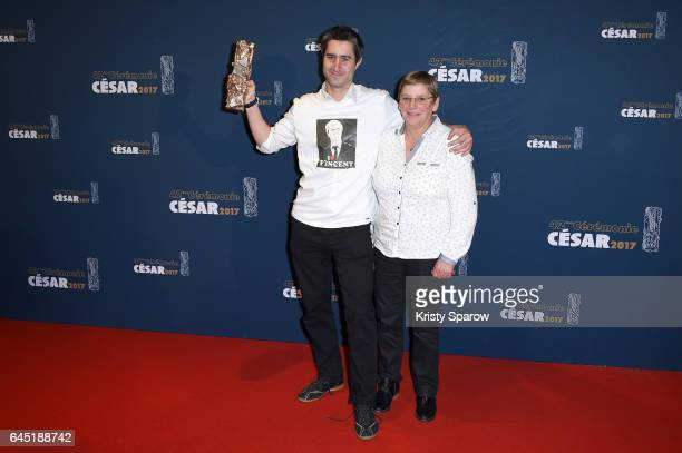 Francois Ruffin and guest attend the Cesar Film Awards 2017 at Salle Pleyel on February 24 2017 in Paris France