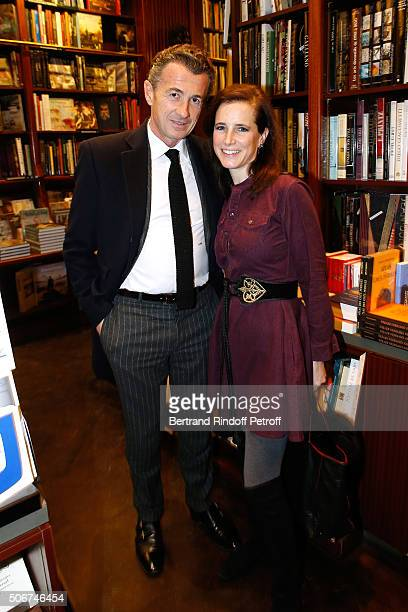 Francois Sarkozy and Geraldine Meissirel attend Princess Gloria Von Thurn und Taxis signs her Book 'The House of Thurn und Taxis' Held at Librairie...