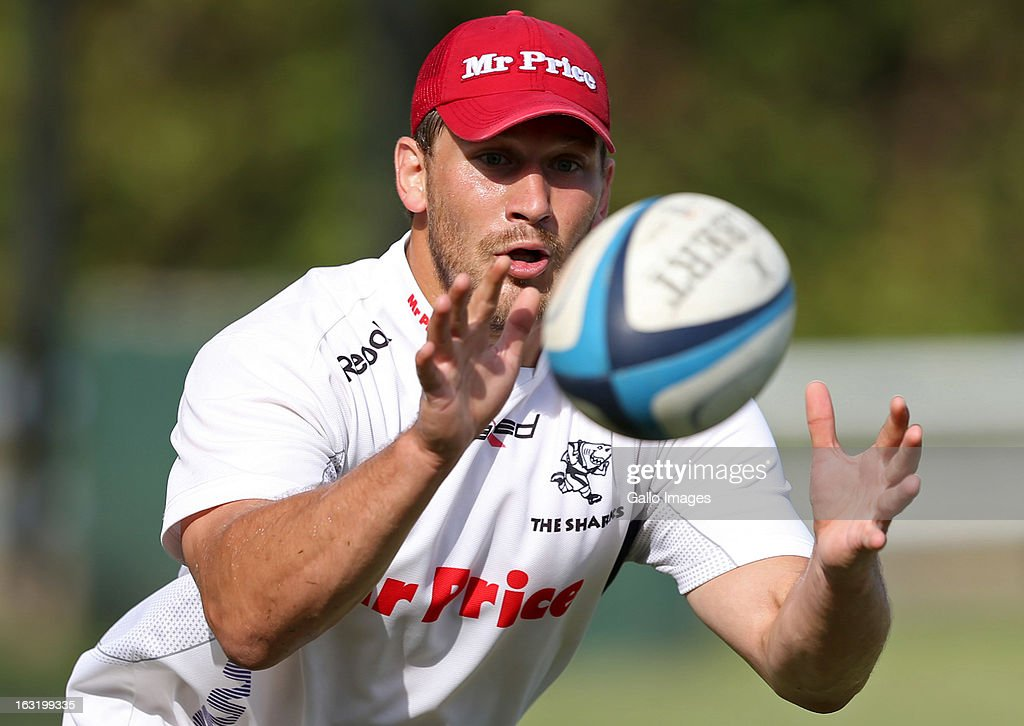 <a gi-track='captionPersonalityLinkClicked' href=/galleries/search?phrase=Francois+Steyn&family=editorial&specificpeople=684108 ng-click='$event.stopPropagation()'>Francois Steyn</a> during The Sharks training session from Kings Park on March 06, 2013 in Durban, South Africa.