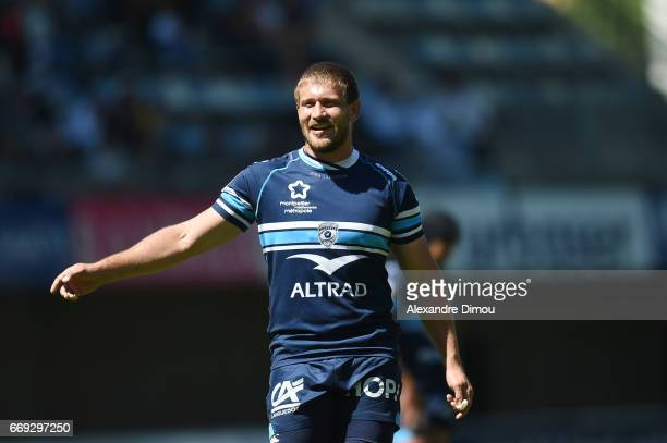 Francois Steyn of Montpellier during the Top 14 match between Montpellier and Bayonne on April 16 2017 in Montpellier France