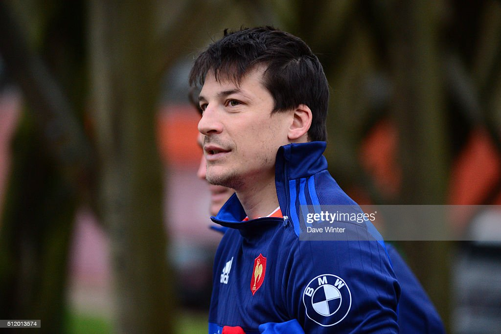 Francois TRINH DUC of France during the French Rugby Union team training session at Centre national de rugby ahead of their six nations match against Wales on February 23, 2016 in Marcoussis, France.