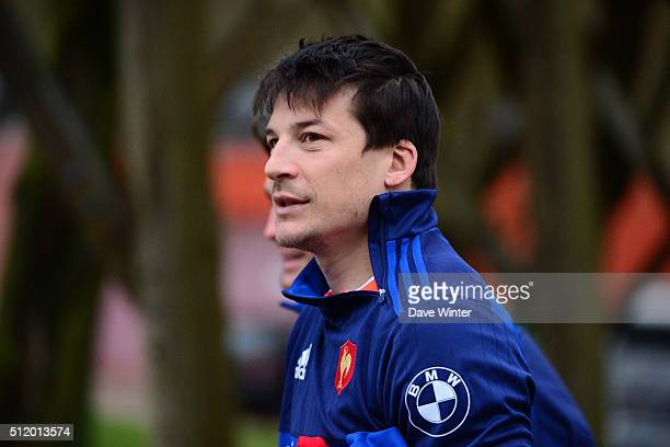 Francois TRINH DUC of France during the French Rugby Union team training session at Centre national de rugby ahead of their six nations match against...