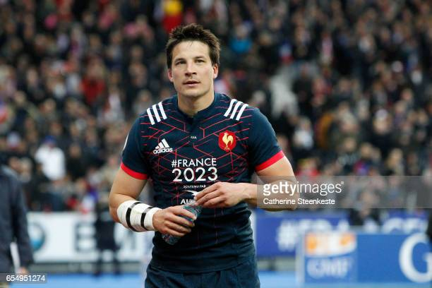 Francois Trinh Duc of France looks on after the victory of the RBS Six Nations match between France and Wales at Stade de France on March 18 2017 in...