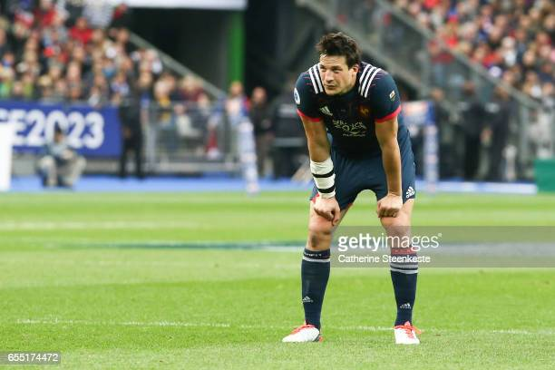 Francois Trinh Duc of France looks on during the RBS Six Nations match between France and Wales at Stade de France on March 18 2017 in Paris France