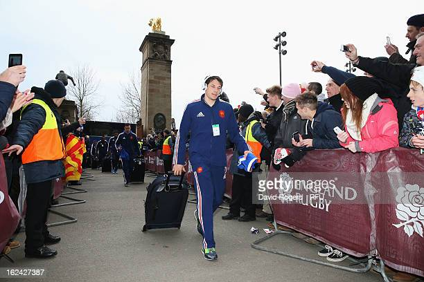 Francois TrinhDuc of France arrives ahead of the RBS Six Nations match between England and France at Twickenham Stadium on February 23 2013 in London...