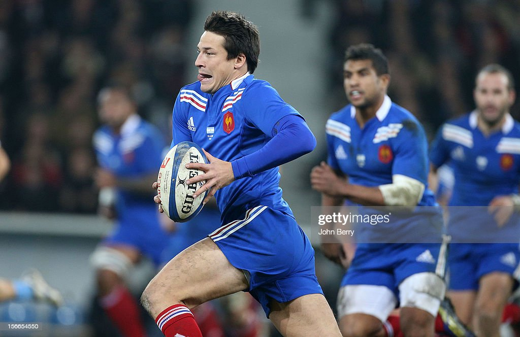 Francois Trinh-Duc of France in action during the rugby autumn international between France and Argentina (39-22) at the Grand Stade Lille Metropole on November 17, 2012 in Lille, France.