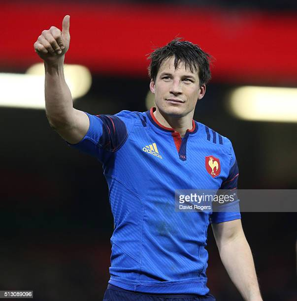Francois TrinhDuc of France looks on during the RBS Six Nations match between Wales and France at the Principality Stadium on February 26 2016 in...