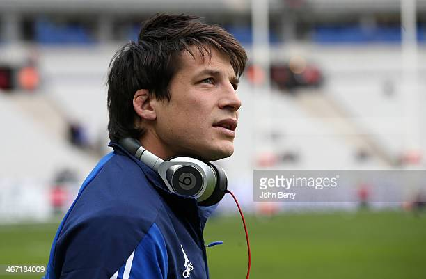 Francois TrinhDuc of France looks on prior to the RBS Six Nations rugby match between France and England at the Stade de France stadium on February 1...