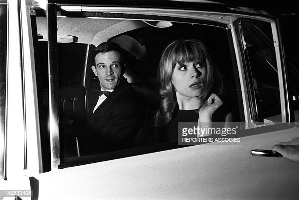Francois Truffaut and Francoise Dorleac at the Cannes Film Festival on May 1964 in Cannes France