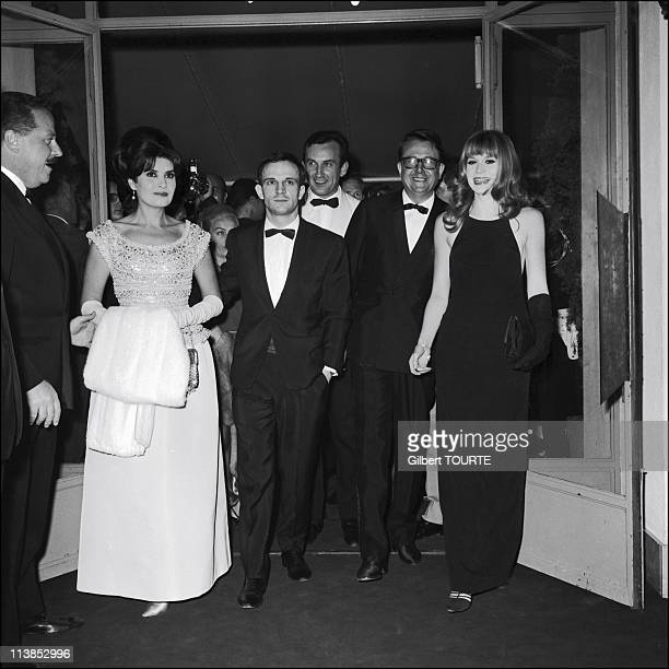 Francois Truffaut and Francoise Dorleac for the film 'La Peau Douce' during the Cannes Film Festival in 1964
