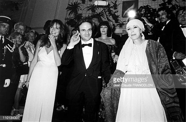 Francois Truffaut and Jacqeline Bisset in Cannes France on May 14 1973