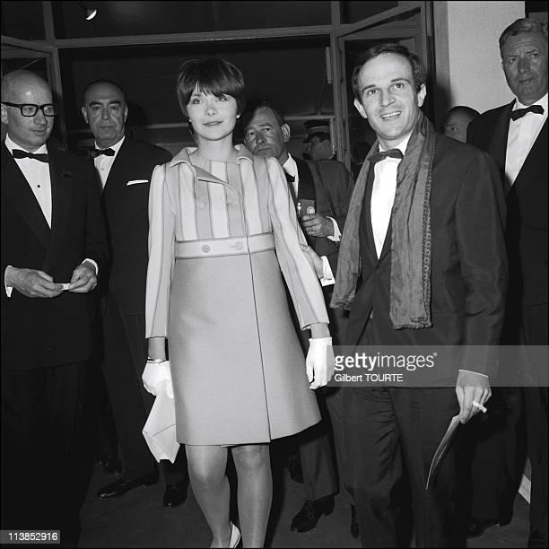 Francois Truffaut with Macha Meril at Cannes Film Festival in 1966