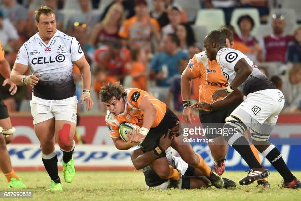 Francois Venter of the Cheetahs during the Super Rugby match between Toyota Cheetahs and Cell C Sharks at Toyota Stadium on March 25 2017 in...