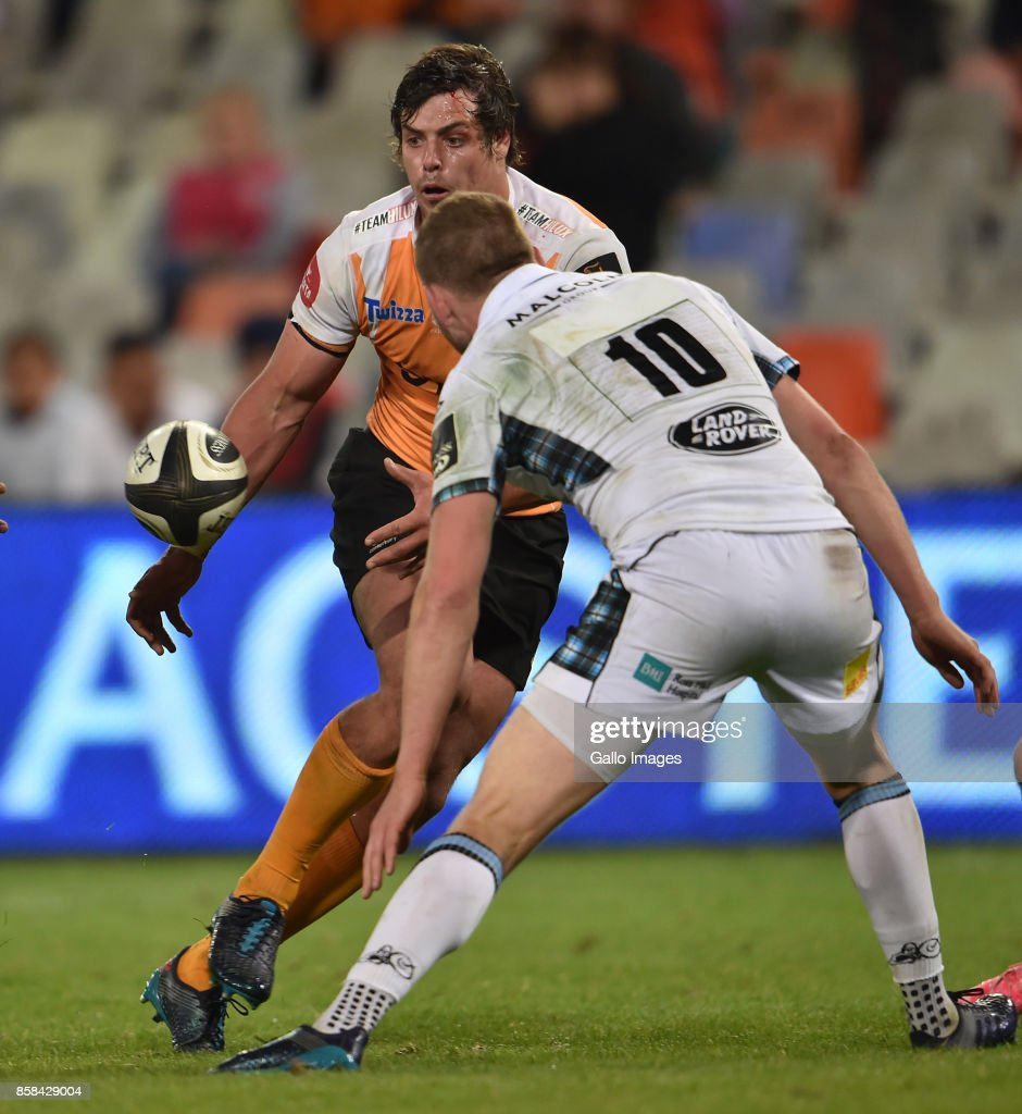Francois Venter (Captain) of the Toyota Cheetahs during the Guinness Pro14 match between Toyota Cheetahs and Glasgow Warriors at Toyota Stadium on October 06, 2017 in Bloemfontein, South Africa.