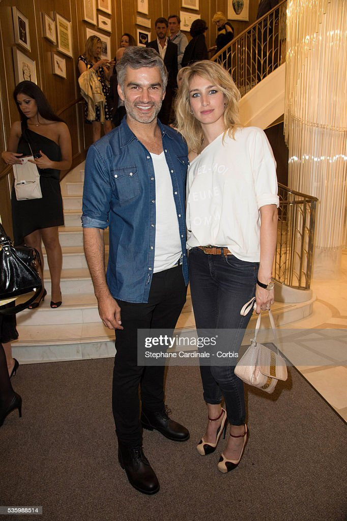 Francois Vincentelli and Pauline Lefevre attend the Tiffany & Co Flagship Opening on the Champs Elysee on June 10, 2014 in Paris, France.