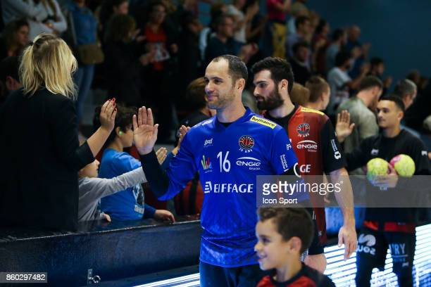 Francois Xavier Chapon and Benjamin Bataille of Ivry during the Lidl Starligue match between Ivry and Massy on October 11 2017 in IvrysurSeine France