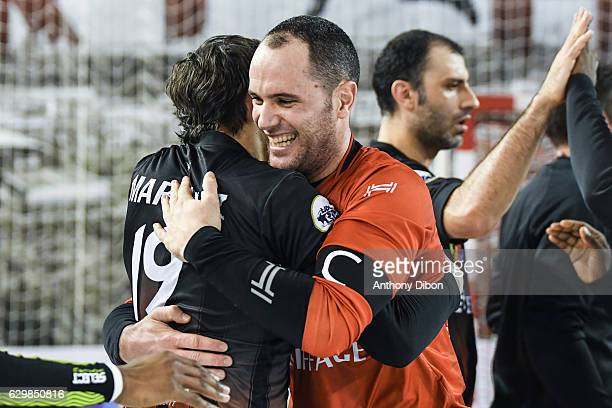 Francois Xavier Chapon of Ivry celebrates the victory during the Lidl Star Ligue match between Ivry and Selestat on December 14 2016 in IvrysurSeine...