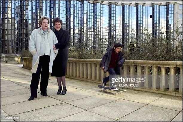 Francoise Catherine Laborde and Theo in France on February 09 2003