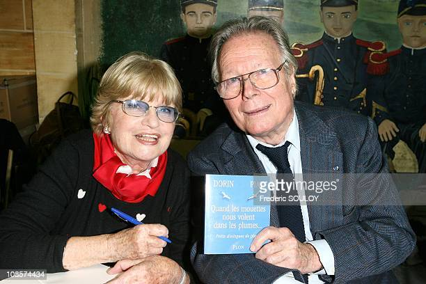 Francoise Dorin and Jean Piat in Paris France on December 01 2008