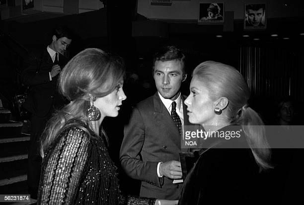 Francoise Dorleac and Catherine Deneuve French actresses Paris Olympia 1968 HA100237