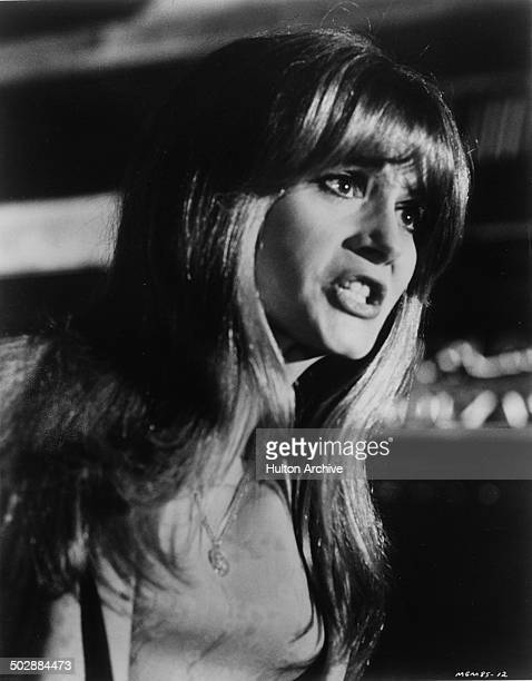 Francoise Dorleac yells in a scene from the MGM movie 'Where the Spies Are' circa 1965