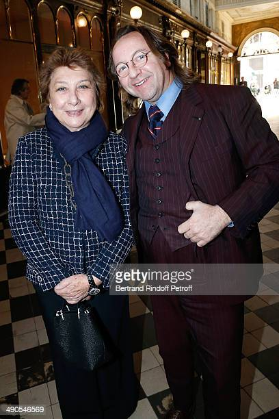 Francoise Dumas and Bill Pallot attend the 'Voila Cherie' Gloria von Thurn und Taxis Exhibition opening party at Galerie Passebon on May 14 2014 in...