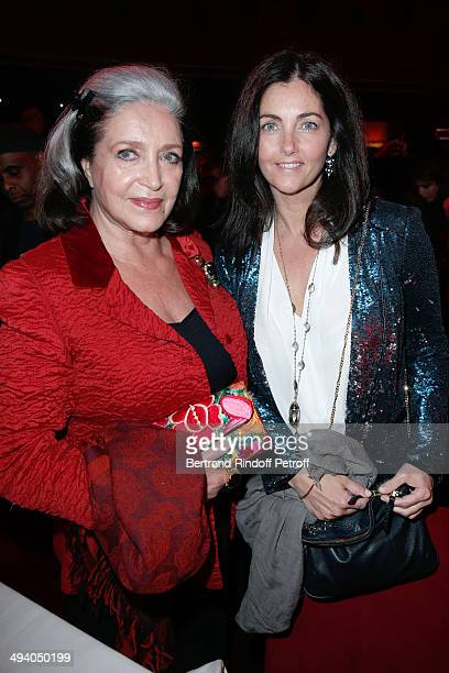 Francoise Fabian and Cristiana Reali attend the 'Mugler Follies' 100th Edition at Le Comedia in Paris on May 26 2014 in Paris France