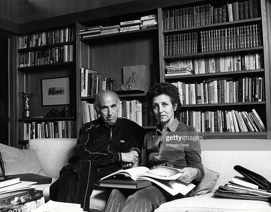 Francoise Gilot and Dr. <a gi-track='captionPersonalityLinkClicked' href=/galleries/search?phrase=Jonas+Salk&family=editorial&specificpeople=91252 ng-click='$event.stopPropagation()'>Jonas Salk</a> at home circa 1982 in La Jolla, California.