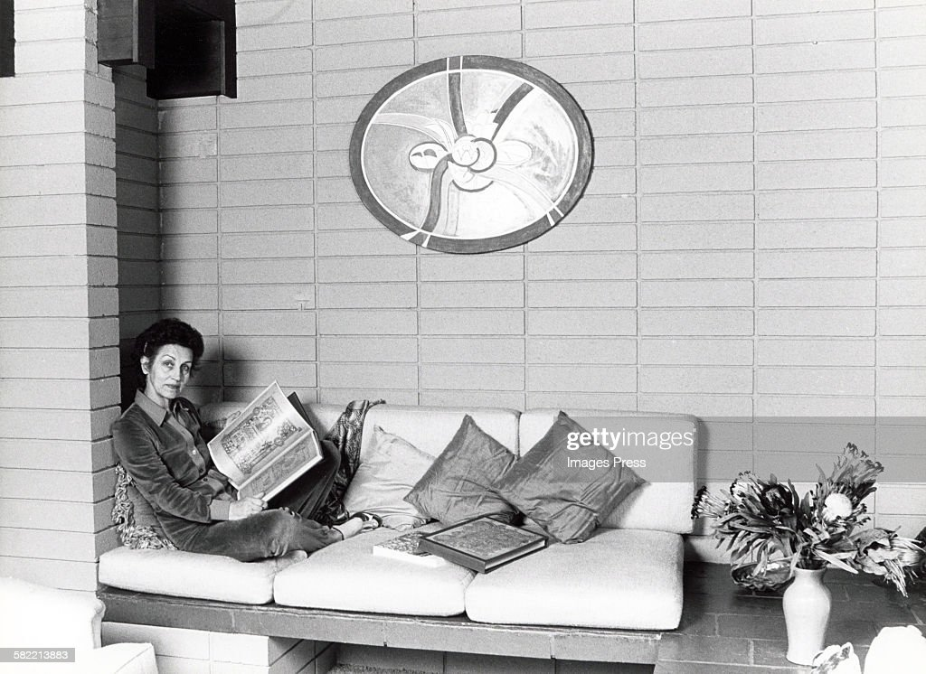 Francoise Gilot at home circa 1982 in La Jolla, California.