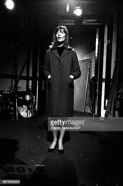 Francoise Hardy performs on TV show Ready Steady Go Kingsway Studios London February 1964