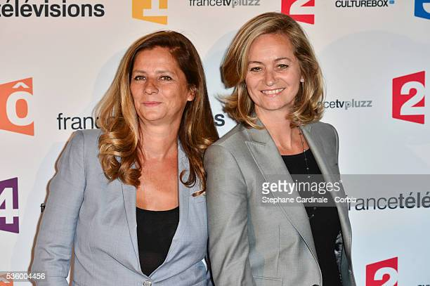 Francoise Joly and Guilaine Chenu attend 'France Televisions' Photocall at Palais De Tokyo on August 26 2014 in Paris France