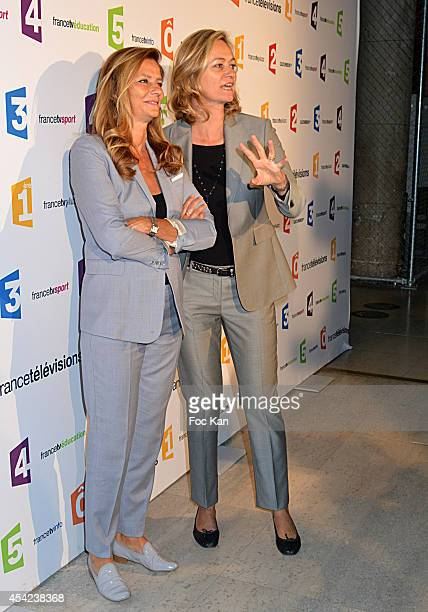Francoise Joly and Guilaine Chenu attend the 'Rentree de France Televisions' at Palais De Tokyo on August 26 2014 in Paris France