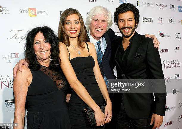 Francoise Kirkland actress Margareth Made photographer Douglas Kirkland and actor Francesco attend the opening night of Cinema Italian Style 2009 US...