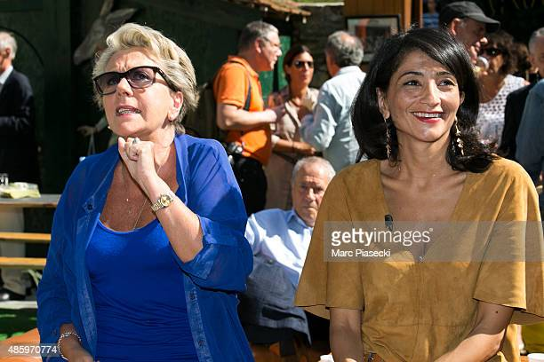 Francoise Laborde and Jeannette Bougrab attend the 2Oth 'La Foret des Livres' book fair on August 30 2015 in ChanceauxpresLoches France