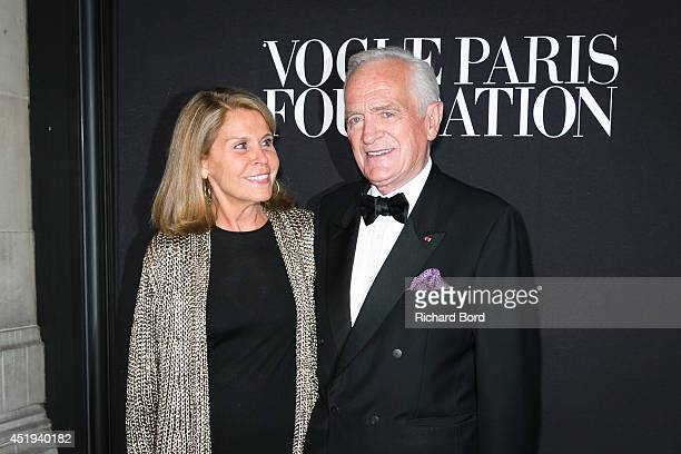 Francoise Labro and Philippe Labro attend the Vogue Foundation Gala as part of Paris Fashion Week at Palais Galliera on July 9 2014 in Paris France