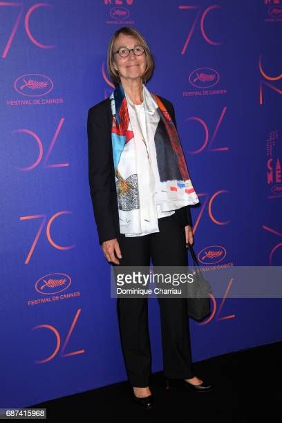 Francoise Nyssen attends the 70th Anniversary Dinner during the 70th annual Cannes Film Festival at on May 23 2017 in Cannes France