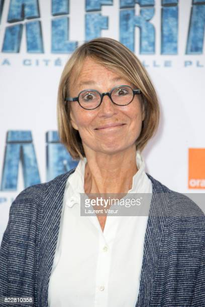 Francoise Nyssen attends 'Valerian et la Cite desMille Planetes' Paris Premiere at La Cite Du Cinema on July 25 2017 in SaintDenis France