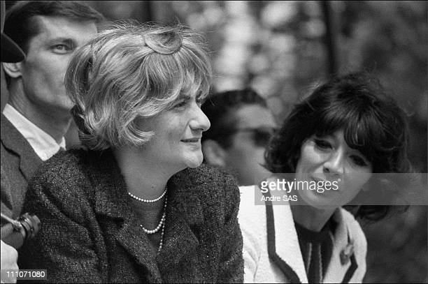 Francoise Sagan at the horse race in France in May 1965