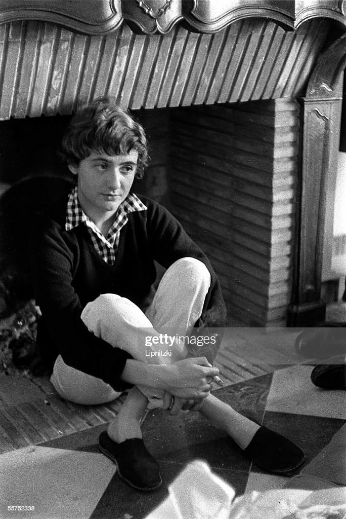 Francoise Sagan French woman of letters in SaintTropez in 1956 LIP5404130