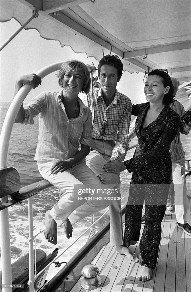 Francoise Sagan Jacques Chazot Juliette Greco in France on July 15 1966