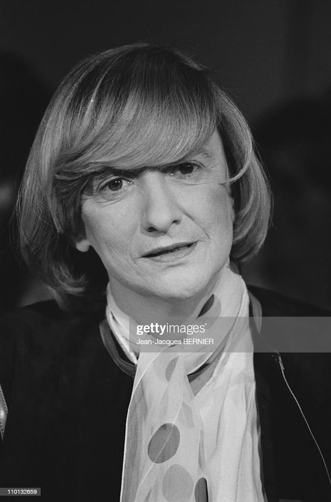 Francoise Sagan on TV 'Apostrophes' in Paris France on March 4 1983
