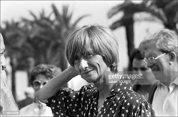 Francoise Sagan President of the jury of the Cannes film festival in 1979