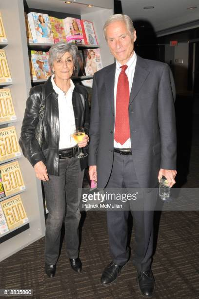 Francoise Simon and Bob Simon attend TIME INC Live and Unfiltered Presents ROUGH JUSTICE Hosted by FORTUNE at Time and Life Building Screening Room...