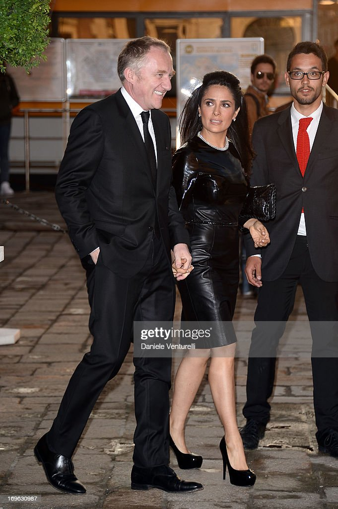 Francois-Henri Pinault and actress Salma Hayek attend the Dinner At 'Fondazione Cini, Isola Di San Giorgio' during the 2013 Venice Biennale on May 29, 2013 in Venice, Italy.